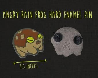 Angry Rain Frog Enamel Pin