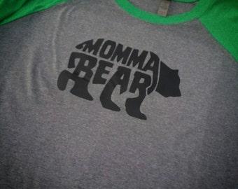 Momma Bear Shirt, Momma Bear Raglan,  Momma Bear, Mama Bear shirt, Mama Bear Raglan, Mama Bear, Mom life, Mom shirt, Mom raglan, Raglan