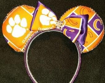 Clemson Tigers Disney Inspired Ears