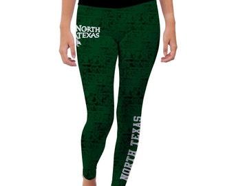 North Texas Mean Green Yoga Pants Designs