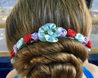 The Sophie Bunflowers --- Blue, Purple, and Red Bunflowers