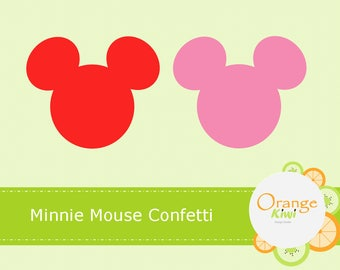Minnie Mouse Birthday Confetti, Minnie Mouse Die Cuts, Birthday Party Die Cuts, Baby Shower, Pink Minnie Mouse, Valentine's Day Confetti