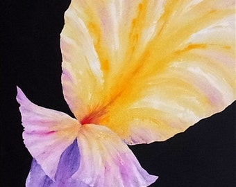 Acrylic painting art painting acrylic painting Orchid flowers orchid flower painted