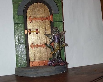 Enchanted Fairy Door with Pewter Fairy