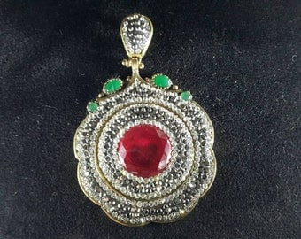One of a kind, Silver pendant, ottoman jewelry, FREE SHIPPING