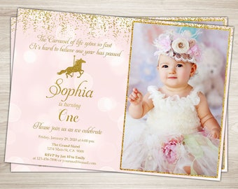 Carousel invitations Etsy