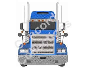Big Truck Machine Embroidery Design