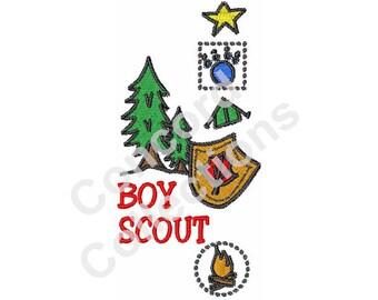 Scout Machine Embroidery Design