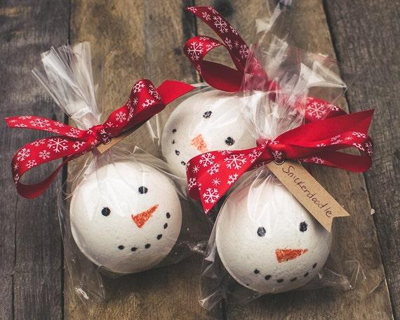 Snowman Christmas Bath Bombs Peppermint Snowman Bath Fizz