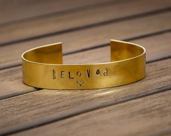 CUSTOM Brass Bracelet, Women's Brass Cuff Bracelet, Copper Cuff, Aluminum Cuff, Gift under 20, Gift for her, Design your Own Cuff