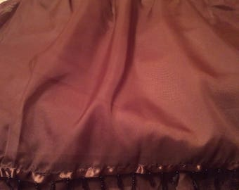 Magnificent Beaded King Bedskirt - chocolate color