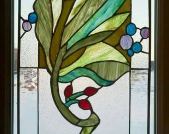 Beautiful stained glass window made with textured glass.