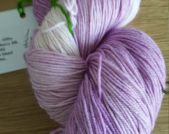 100g 4 Ply 75 Merino/25% Mulberry Silk Luxury Hand Dyed Yarn - Altar of Roses colourway