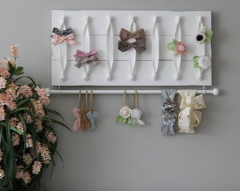 Baby Bow Holder Hair Bow Organizer Headband Holder Headband Organizer Girl Baby Gift Girl Nursery Decor Girl Baby Girl Gift Farmhouse Style