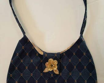 Navy Blue Hobo  Bag