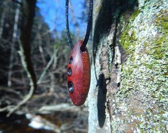 Hardwood teardrop pendant