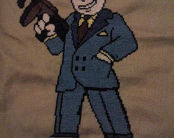Cross-stitch Vault Boy