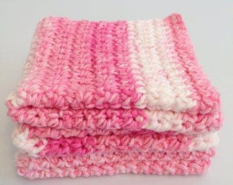 Handmade Crochet Easter Cotton Wash Cloths/Dish Cloths