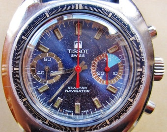 Tissot Seastar Valjoux 7733 Tachymeter Gents Chronograph Watch Stainless Steel Professionally Serviced 6 Months Warranty