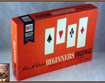 Vintage 1965 Milton Bradley Beginners Bridge, Chas Goren