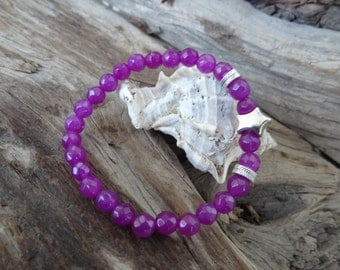 EXPRESS SHIPPING,Plum Purple Agate Bracelet,Star Symbol Bracelet,Stone Jewelry,Women Jewelry,Elegance Bracelet,Gift for Her,Mother Day Gift