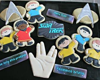 Star Trek Cookies-Star Trek Birthday Cookies