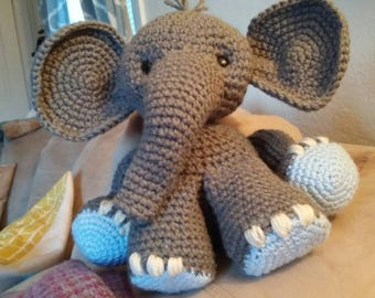 Soft and cuddly crocheted baby Elephant