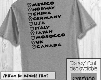 Add-on* Countries for back of shirt