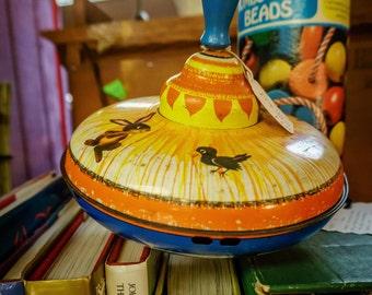 Vintage Ohio Art Tin Toy Top