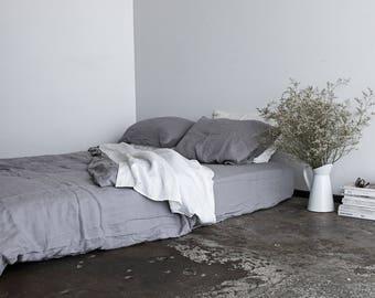 100% Pure Linen Pillowcases - Dove Grey