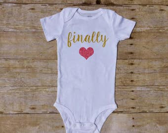 finally, shower gift, baby shower, newborn baby, coming home outfit, rainbow baby, pregnancy announcement, ivf baby, worth the wait
