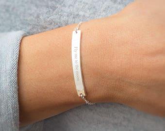 Cherie Personalised Bar Bracelet