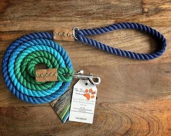 Poseidon's Raibow Rope Leash (made to order)