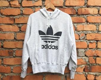 Vintage ADIDAS Trefoil biglogo hoodie jumper sweatshirt