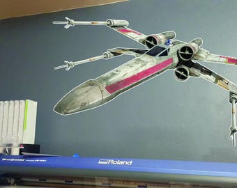 Star Wars X Wing T65 Fighter Wall Decal Wall Mural