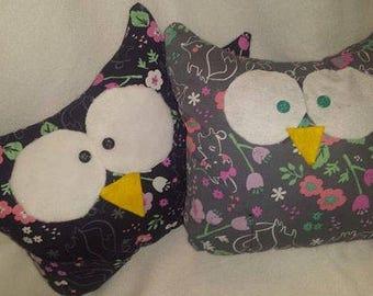 Custom made Owl plushie with pocket