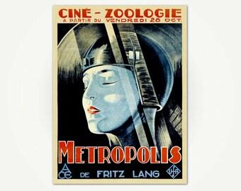 Metropolis by Fritz Lang Vintage Sci-Fi Movie Poster Poster