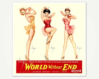 World Without End Vintage Movie Poster - Movie Poster Art by Alberto Vargas - Vargas Girls