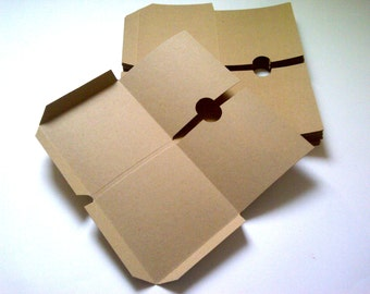 10 Brown Recycled Kraft Card Double CD DVD sleeve/wallet/cover Unbranded/Blank (Flat)