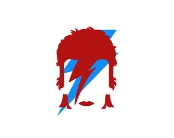 David Bowie Decals - Bowie, David Bowie, Wall Sticker, Laptop Sticker, Bowie Decal