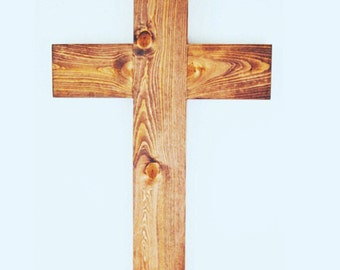 Handcrafted wooden cross