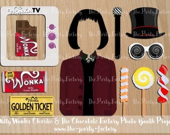Willy Wonka Charlie & The Chocolate Factory Instant Printables, Digital File, Instant Download