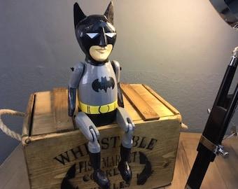 Retro Batman Wooden Shelf Sitter Figurine