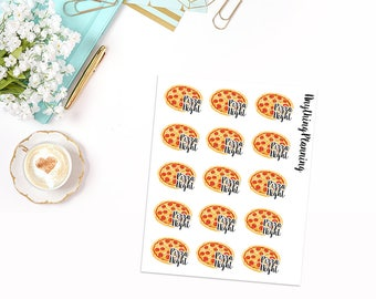 Pizza Night | Erin Condren Vertical Life Planner Stickers