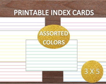 printable index cards