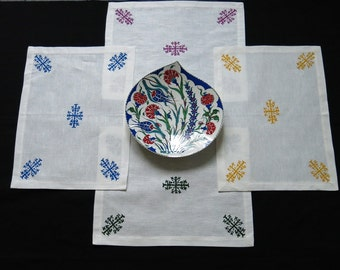Hand painted placemat set