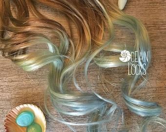 Human Hair Extensions, Hair extensions Clip In, Ombre Hair, Pastel Hair ,Blonde Hair, Blue Hair, Mint Hair, Mermaid Hair, Ocean Locks Hair