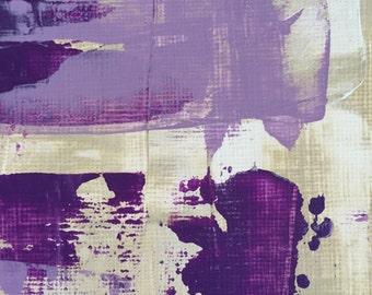Purple Haze, Original Fine Art, Acrylic Purple with Pallet Knife Painting