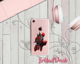 Deadool, Deadpool Decal, Deadpool Sticker, Deadpool iPhone Decal, iPhone7, iPhone plus, iPhone Sticker, MacBook Pro Decal, Comic book, Gift
