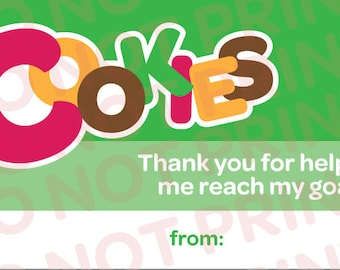 Girl Scout Cookies Thank You // Business Cards // Printable